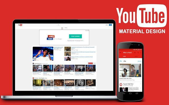 YouTube to Get Google's Material Design