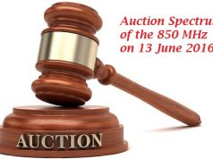 Auction Spectrum of the 850 MHz to be Held on 13 June 2016- PTA