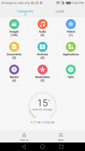 huawei p9 review EMUI file manager interface
