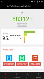 lenovo zuk z1 cyanogen interface antut benchmark score