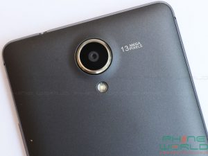 qmobile noir a6 rear camera and LED flash