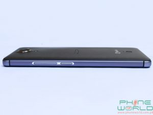 qmobile noir a6 right side with volume key and power button