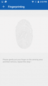 qmobile noir a6 finger print recognition