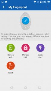 qmobile noir a6 finger print app
