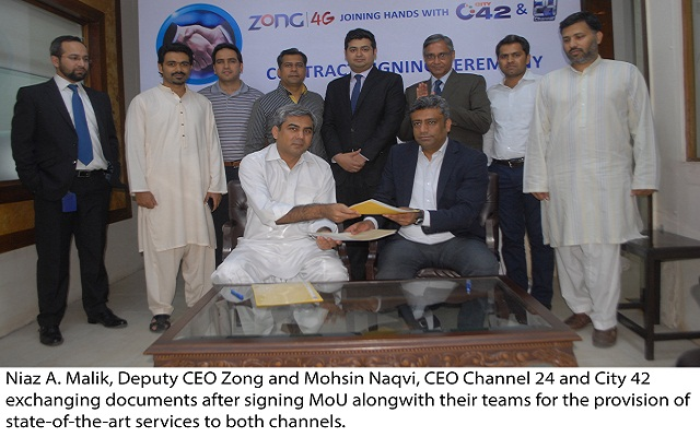 Zong Equips Channel 24, City 42 With Advanced 4G Services