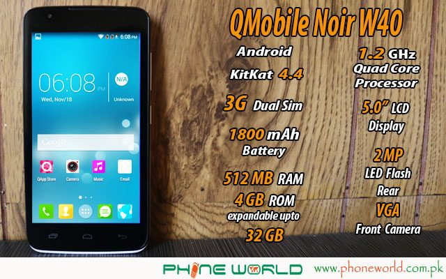Qmobile noir 40 review specifications and price