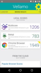 general mobile 4g dual vellamo benchmark score