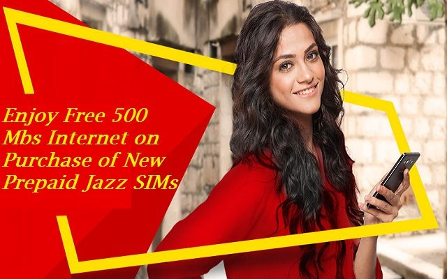 Jazz Brings 500 Mbs Internet on Purchase of New Prepaid Jazz SIMs