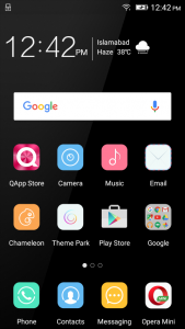 qmobile noir w70 android amigo interface
