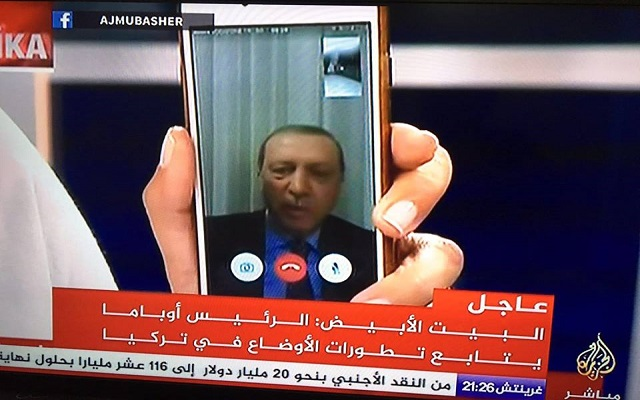 Tech Revolution President Erdogan Appears on Turkish TV via FaceTime