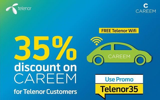 Telenor and CAREEM Collaborates to Offer Discounted and Wifi-Equipped Rides