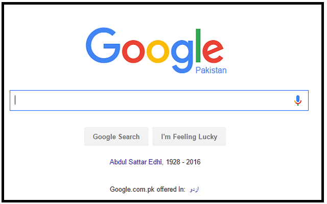 Thank you Google for Paying Tribute to the Legendary Abdul Sattar Edhi