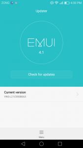 huawei p9 lite interface emui 4.1 Ui marshmallow 6.