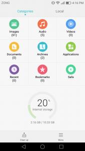 huawei p9 lite interface emui 4.1 Ui marshmallow 6.0 file manager