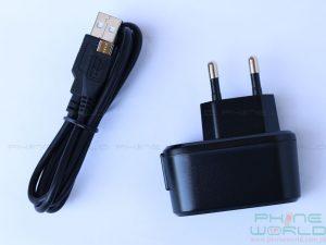 qmobile noir lt750 unboxing data cable charger