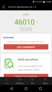 Alcatel idol 4 antutu scores