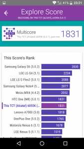 Alcatel idol 4 vellamo scores