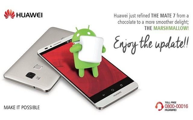 Huawei Updates Ascend Mate 7 from KitKat to Marshmallow