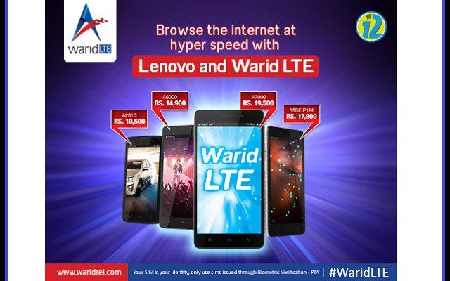 Warid LightningTez Internet & Lenovo LTE Handsets Gives you Ultimate Experience