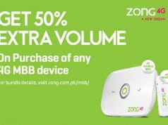 Now Get 50% More Volume on Purchase of Zong MBB Device