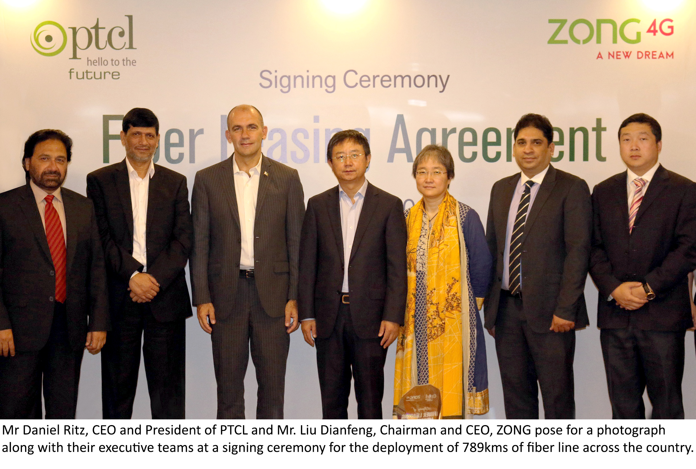 PTCL and ZONG Sign Fiber Leasing Agreement