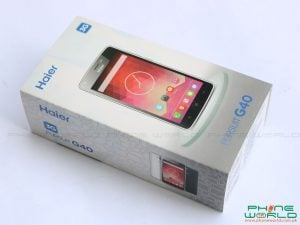 haier pursuit g40 retail box accessories unboxing