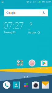 infinix hot 4 interface display