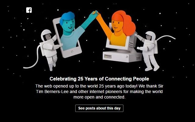 Facebook is Celebrating 25th Anniversary of World Wide Web-Internaut Day
