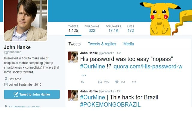 Pokémon Go Creator's Twitter Account Got Hacked