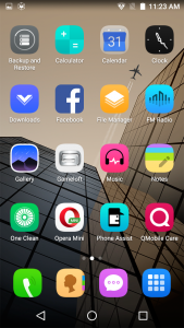 qmobile noir s2 plus android marshmallow 6.0 interface