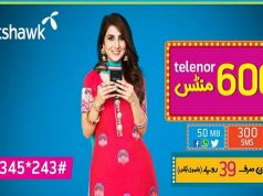 Telenor Talkshawk Introduces 3 Day Offer in Just Rs 39