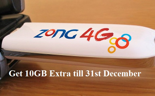 Get 10GB More Volume on Every Bundle of Zong MBB Device