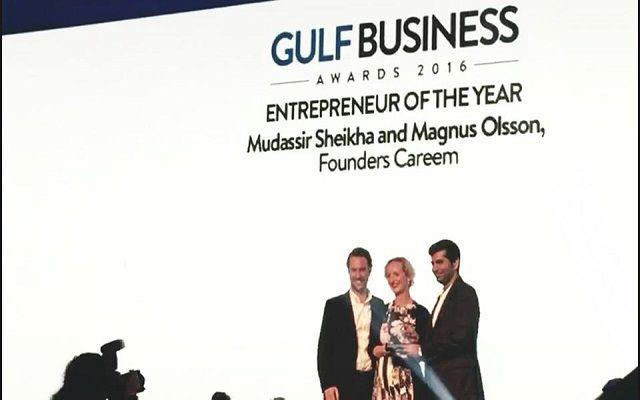 Careem Founders Mudassir & Magnus Won the Entrepreneur of the Year Award at Gulf Business Awards 2016