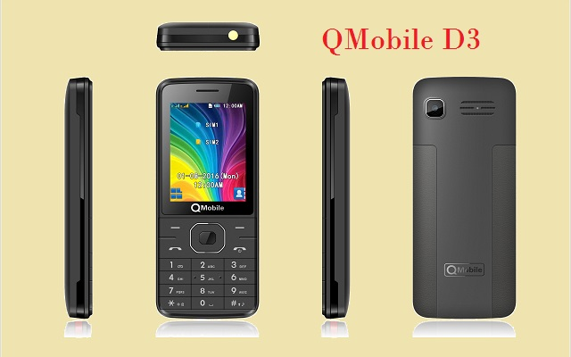 QMobile Launches Two Elegant Bar Phones D1 and D3