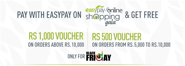 Easypay Online Shopping Gala on Daraz.pk Gets 5x Hotter Today