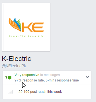 K-Electric Maintains Very Responsive Status on Social Media