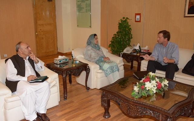 Mr. Mike Bailey Calls on Anusha Rehman to Discuss the Matters of Mutual Interests