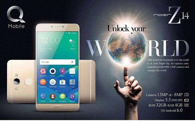 QMobile Launches Noir Z14 with 4GB RAM and 32GB ROM