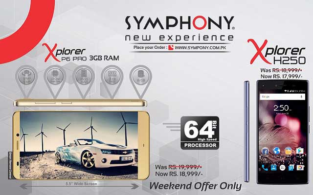 Photo of Symphony Mobile Presents Amazing Discount on Symphony Xplorer P6 Pro & Xplorer H250  in Weekend Sale & Online Orders