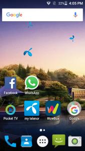 telenor infinity e interface display