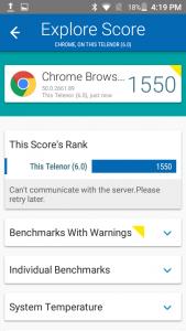 telenor infinity e vellamo scores