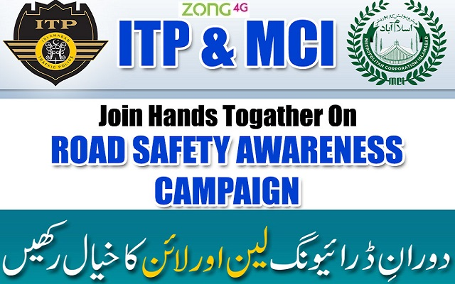 Zong Collaborates With ITP and MCI on Road Safety Campaign in Islamabad