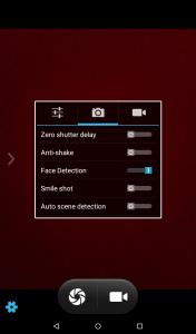 qtab v100 camera display interface results