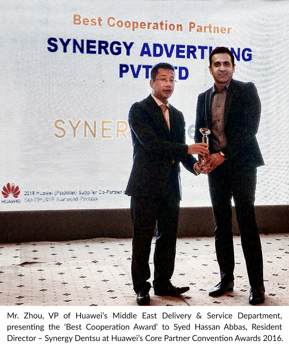 Synergy Dentsu Wins Huawei's Best Cooperation Award