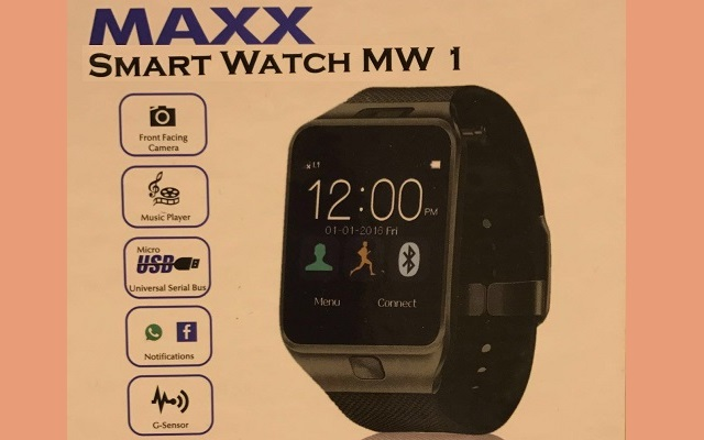 Maxx Mobile Presents Smart Watch MW-1 in Just Rs 3250