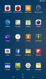 qtab v100 interface display