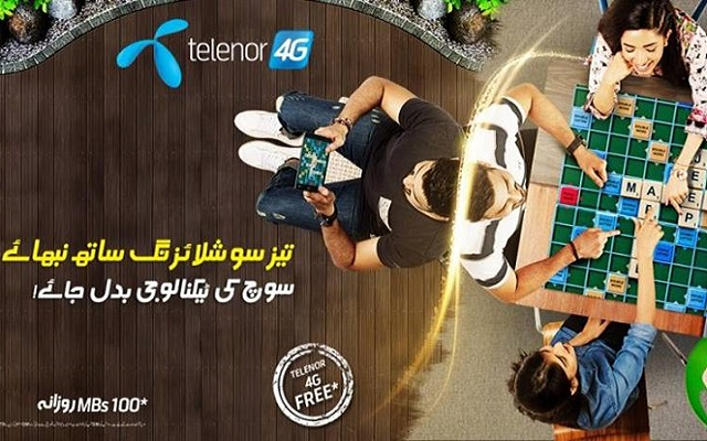 Telenor Brings Free 4G Internet