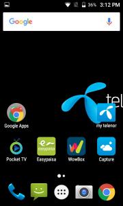 telenor infinity i interface display