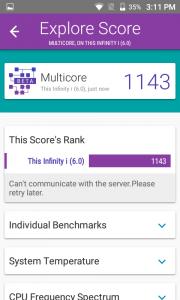 telenor infinity i vellamo scores