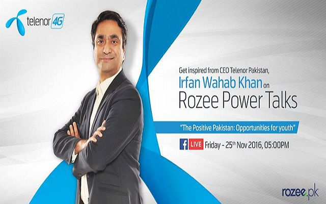 CEO Telenor Irfan Wahab to Highlight Opportunities for Youth on Facebook Live